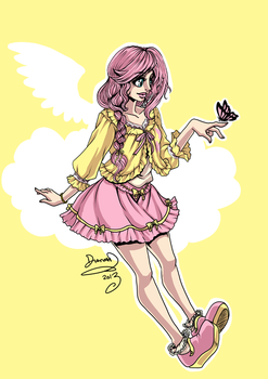 My Little Pony Fluttershy by omegasama