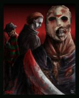 Freddy,Michael,Jason, in color by DougSQ