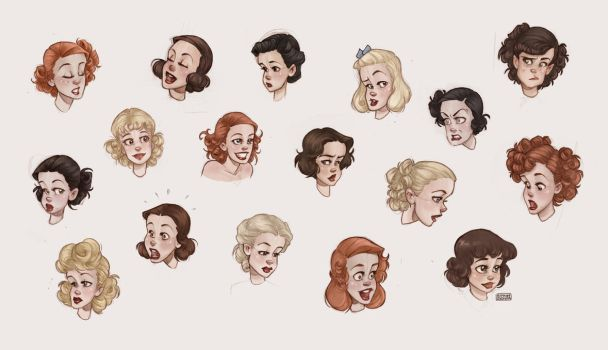 1930s Hairstyles for Women by Ninidu