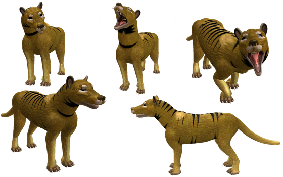 Spore Creature: Thylacine by Evilution90