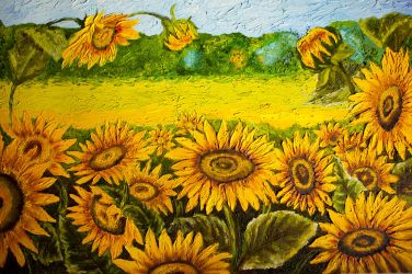 Sunflower Field by MelGama