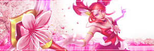Cherry Blossom Guardian Lux Banner by Nexaam