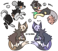 Spoopy Auction Adoptables CLOSED by Critterly