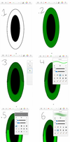 Sonic character eyes tutorial. (sketchbook pro) by Tri-shield