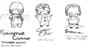 Even more chibis by ayellowbirds