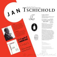 Tschichold Poster by periwinklepinwheel