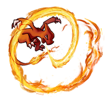 Charmeleon used Fire Spin! by Saskle