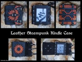 Leather Steampunk Kindle Case by Epic-Leather