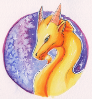 Yellow Dragon by Sparr0wlicious