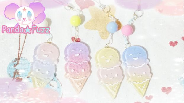 Ice Cream Mobile Charms by ZinniaLunaJaganshi