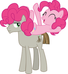 Pinkie Pie and Mudbriar by CloudyGlow