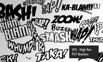 Sound SFX - PS7 brushes by screentones