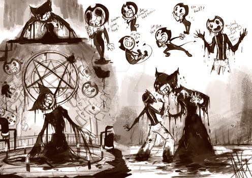 Bendy and the Ink Machine SKETCHDUMP by WalkingMelonsAAA