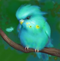 blue parrot by Nafrin