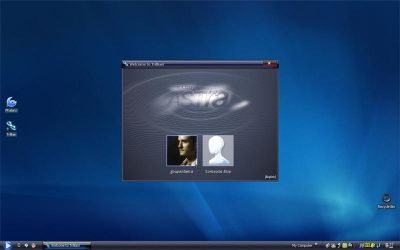 WMP desktop with trillian by deeg