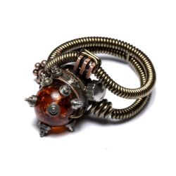 Steampunk jewelry Ring G by CatherinetteRings