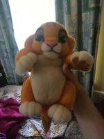 Needle Felting - Baby Simba by NostalgicChills