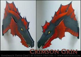Crimson Grin by StrayaObscura