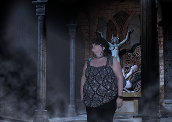 Ginger in the temple of Nyx by AnubicDarque
