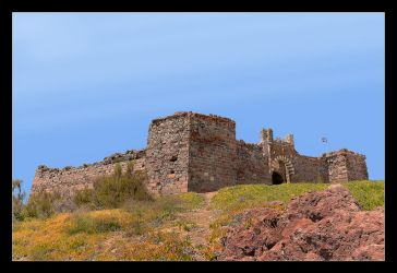 Turkish Castle In Sigri On The Lesbos Island by skarzynscy