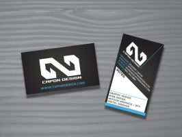 Capon Design Business cards by genecapone