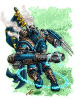 Predator Warjack color by DS by NewPlanComics