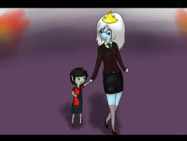 I remember - Marshall Lee and Ice Queen by TheBeeInYourBonnet