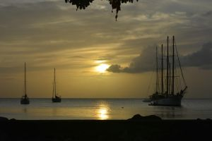 Martinique sunset for Marleen birthday by A1Z2E3R