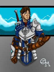 Conner Cartwaith : The banished Warden by SkechMaster22