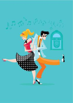Rock n Roll - Jive Couple by Coolgraphic