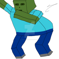 Zombie-Kun the epic Minecraft dabber by xXxFilthyWeebxXx