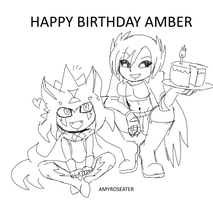 Amy And Neonkitsune Birthday Pic Png by amyroseater