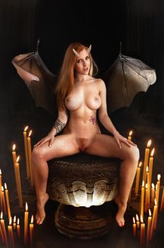 Evil succubus  Alexa wings  horns by Lexlucas by FueledbypartII