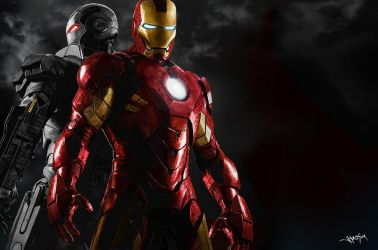 Iron Man and War Machine Painting by Hax09