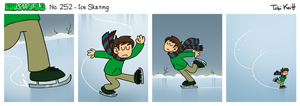 EWCOMIC No. 252 - Ice Skating by eddsworld