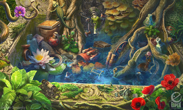 Hidden object scene - Fountain by aleksandr-osm