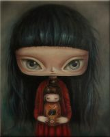 The Girl with a Kokeshi by paulee1