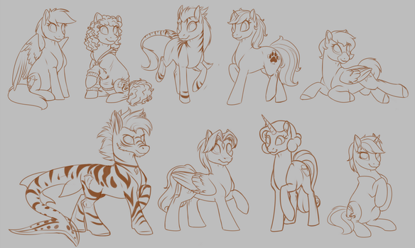Rainbow Giveaway - Orange- WIPs by MythPony