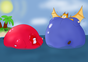 Bloated Buoys (Commission) by SimulatedPopcorn