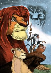 The Lion King with colors by Daviskingdom