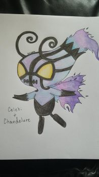 Celebi + Chandelure Fusoin by bio-zuzu