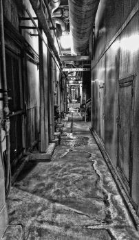 Industrial Hallway by 21giants