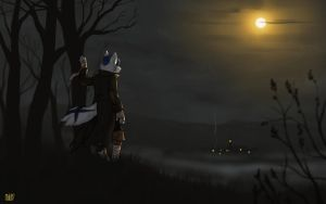 [commission] Eerie Night by oddthesungod