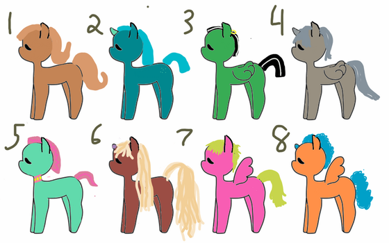 Cheap Pony adopts! O.T.A. by GeneralKitty23