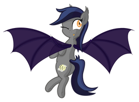 Echo the bat pony winking by VectorVito