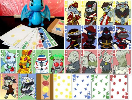 Ninja Pirate Zombie Robot Neopets Custom Card Deck by ah-kaziya