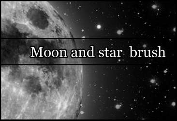 Moon and stars brush by Faeth-design