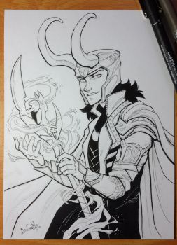 Inktober day 9 - Loki by nary-san