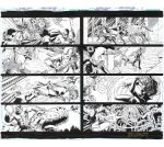 TEEN TITANS #100 Pg 6/7 DOUBLE PAGE SPREAD $135 by DRHazlewood