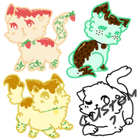 [C L O S E D] Flavour-themed Adopts by memorii-chii